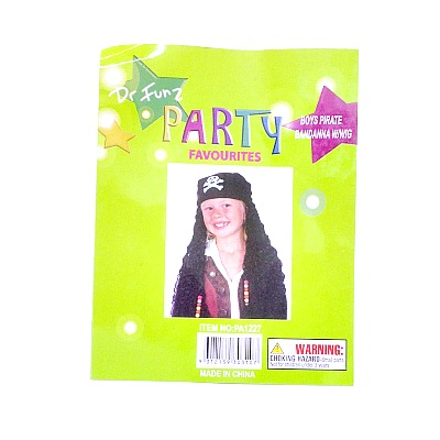Pirate Bandana With Wig