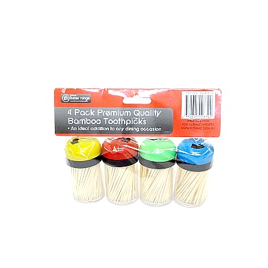 Toothpicks Bamboo 4 pack