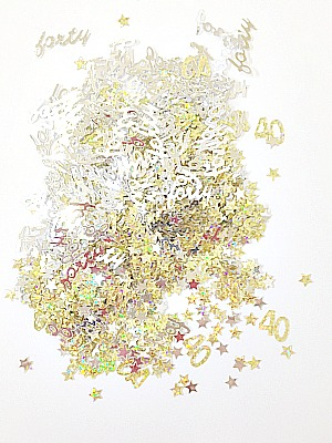 Confetti Scatter 40th