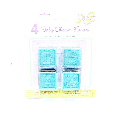 Baby Shower Blocks Blue