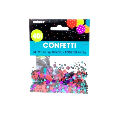 Confetti Scatter 40th Birthday