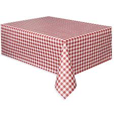 Tablecloth Red & White Check