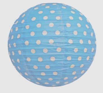 Lantern Polka Dot Blue & White(paper)
