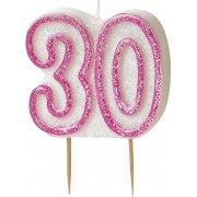 Glitz #30 Candle Pink & White