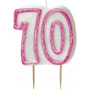 Glitz #70 Candle Pink & White
