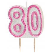 Glitz #80 Candle Pink & White