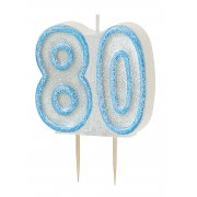 Glitz #80 Candle Blue & White