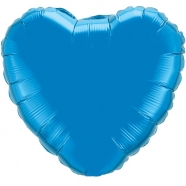 Foil Balloon Royal Blue Heart