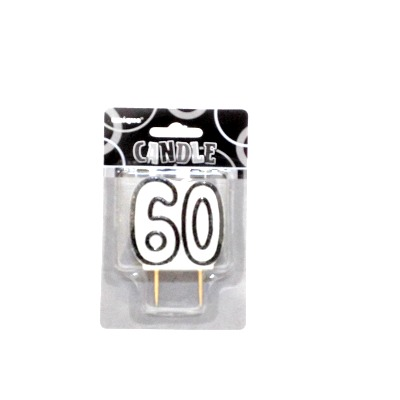 Glitz #60 Candle Black & White