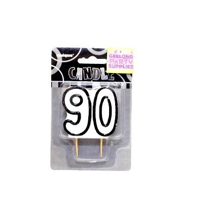 Glitz #90 Candle Black & White
