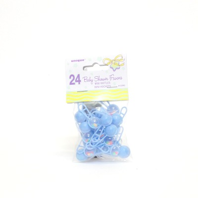 Baby Shower Mini Blue Rattles