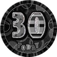 Badge Glitz Black 30th