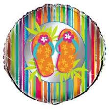Foil Balloon Luau Thongs