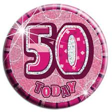 Badge Glitz Pink 50th