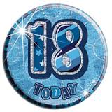 Badge Glitz Blue 18th