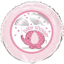 Foil Balloon Baby Shower Pink