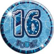 Badge Glitz Blue 16th