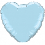 Foil Balloon Baby Blue Heart