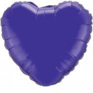 Foil Balloon Deep Purple Heart