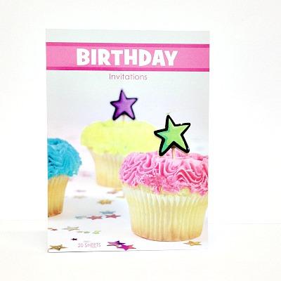 Birthday Invitations Cupcake