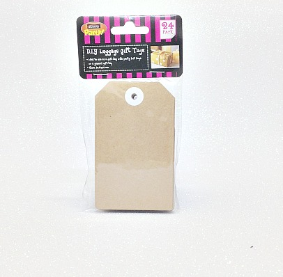 Gift Tag Large Brown