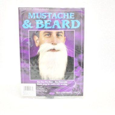 Beard and Moustache White