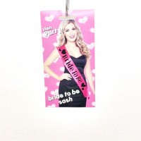 Bride to be Sash Black on Pink