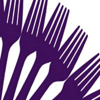 Cutlery Purple Forks