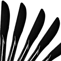 Cutlery Black Knives