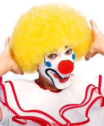Clown Afro Wig Yellow