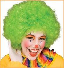 Clown Afro Wig Green
