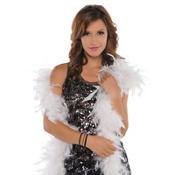 Boa White Feathers